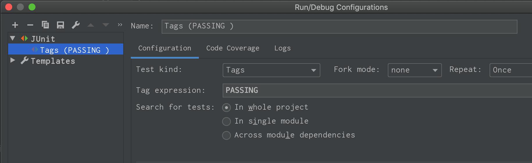JUNitRunConfiguration
